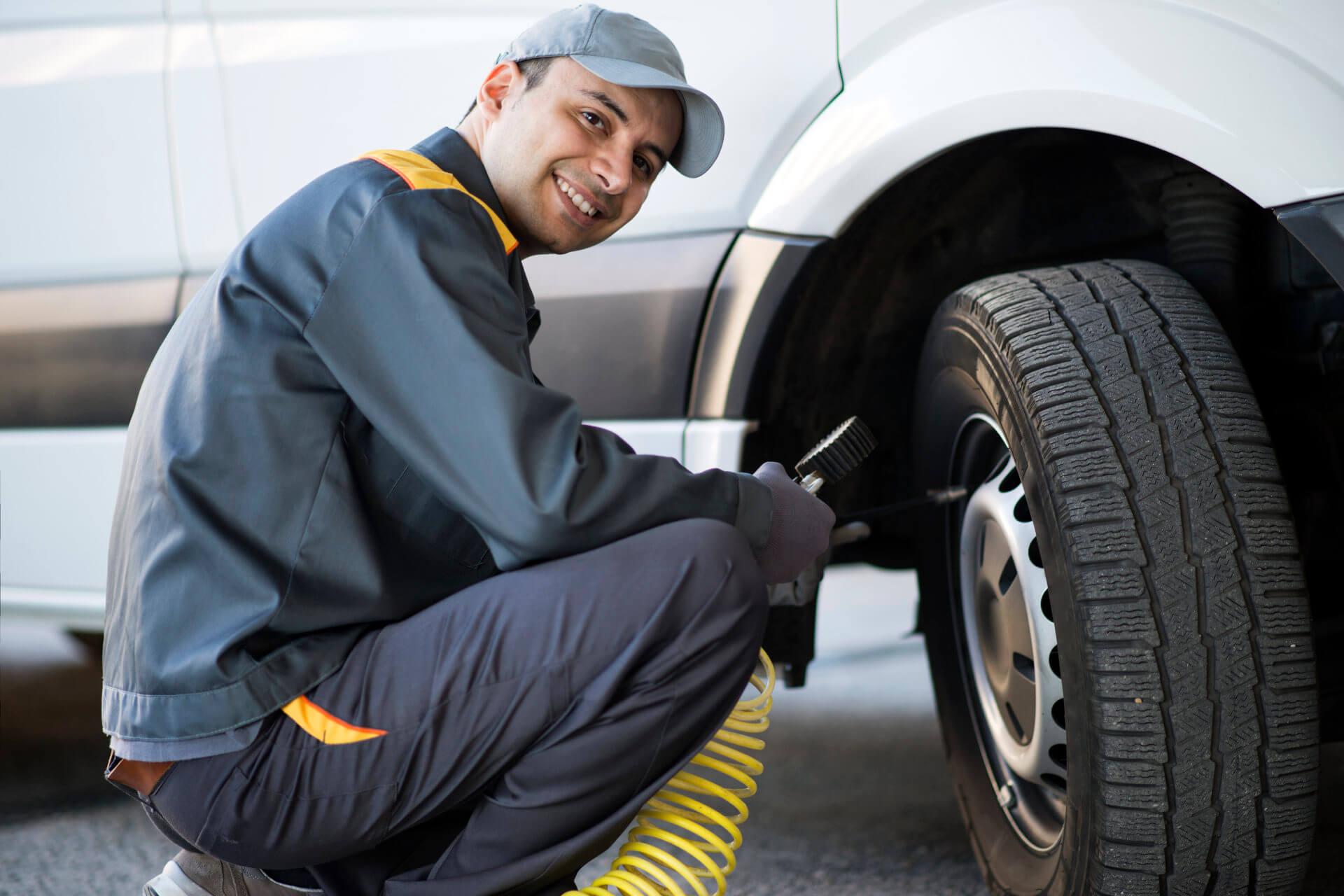 Notfalldienst für LKW-Reifen
